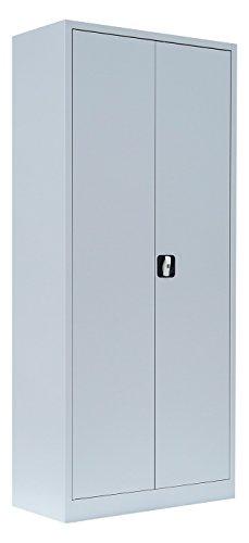 Flügeltürenschrank Schrank Stahl Stahlblech Lagerschrank Aktenschrank Büroschrank Werkzeugschrank 4 Fachböden/4,5 OH/Maße: 1800x800x380mm 530330 kompl. montiert und verschweißt - 2