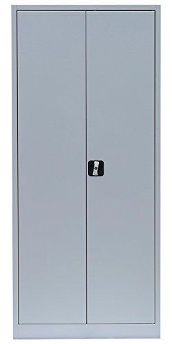 Flügeltürenschrank Schrank Stahl Stahlblech Lagerschrank Aktenschrank Büroschrank Werkzeugschrank 4 Fachböden/4,5 OH/Maße: 1800x800x380mm 530330 kompl. montiert und verschweißt - 5