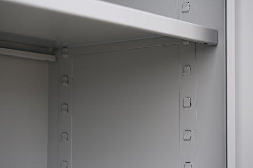 Flügeltürenschrank Schrank Stahl Stahlblech Lagerschrank Aktenschrank Büroschrank Werkzeugschrank 4 Fachböden/4,5 OH/Maße: 1800x800x380mm 530330 kompl. montiert und verschweißt - 7