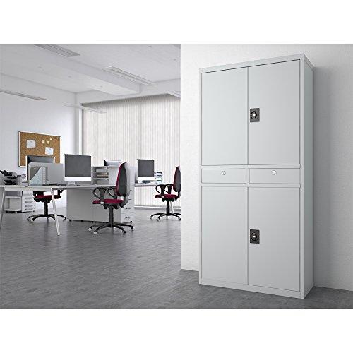 Aktenschrank Werkzeugschrank Büroschrank Metallschrank Universal Archiv Schrank 4 Türen - 2