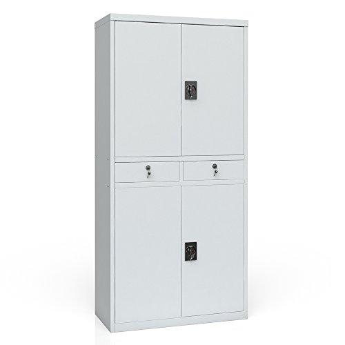 Aktenschrank Werkzeugschrank Büroschrank Metallschrank Universal Archiv Schrank 4 Türen - 3