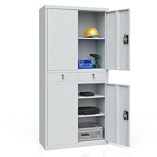 Aktenschrank Werkzeugschrank Büroschrank Metallschrank Universal Archiv Schrank 4 Türen - 4